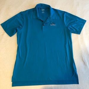 Adidas climalite blue penn national golf shirt L